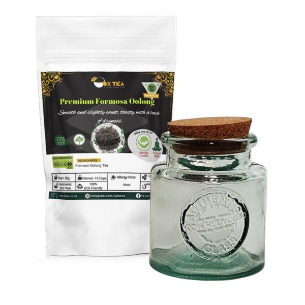 Formosa oolong tea With Glass Jar