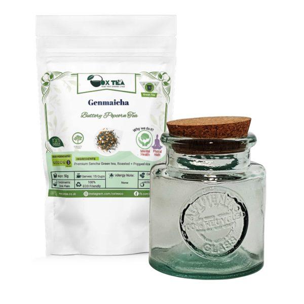 Genmaicha Green Tea With Glass Jar