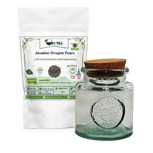 Jasmine Dragon Tears Tea With Glass Jar