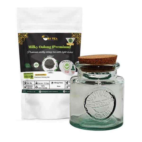 Milky Oolong Tea With Glass Jar