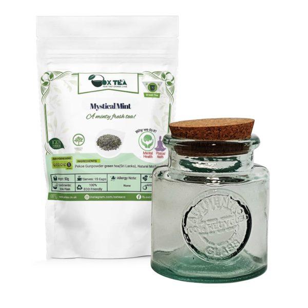 Mystical Mint Blend With Glass Jar