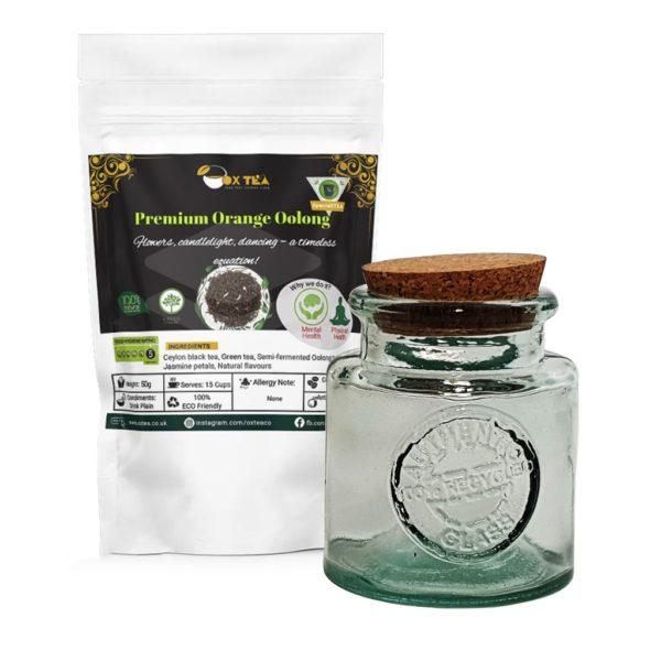 Premium Orange Oolong Tea with Glass Jar