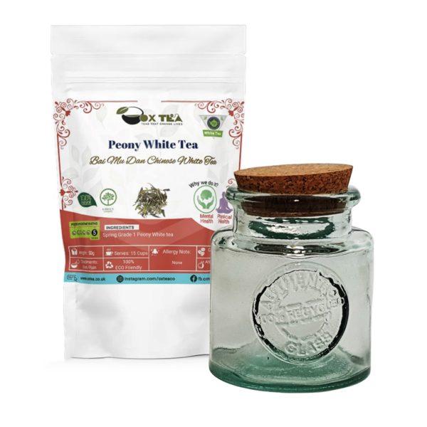 Peony White Tea With Glass Jar