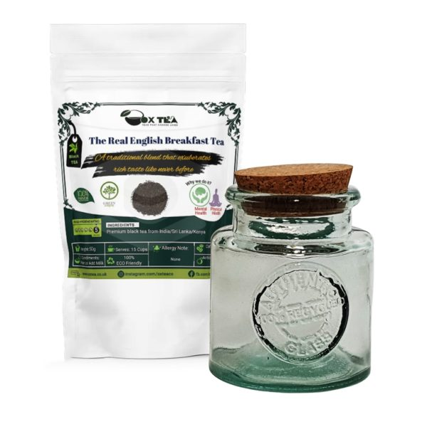 The Real English Breakfast Tea With Glass Jar