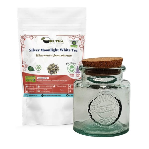Silver Moonlight White Tea With Glass Jar