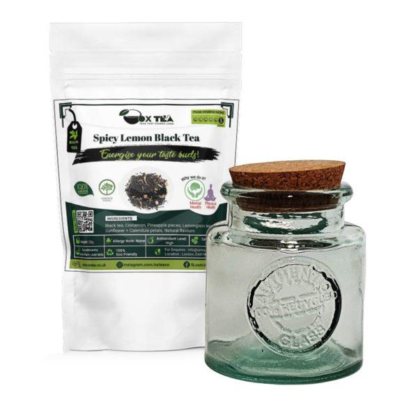 Spicy Lemon Black Tea With Glass Jar