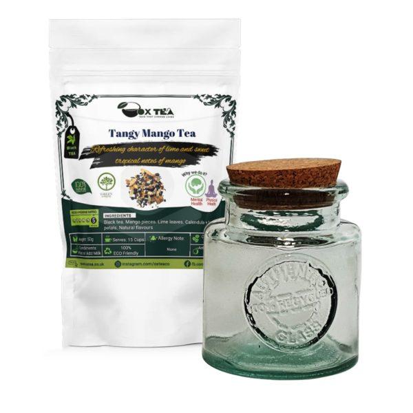 Tangy Mango Tea with Glass Jar