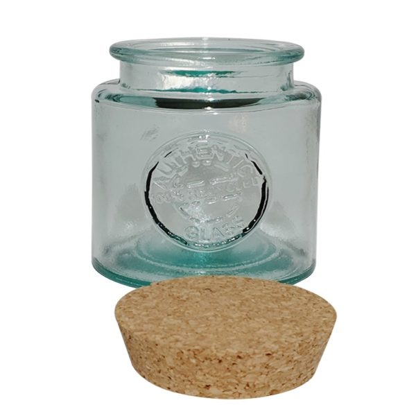 Recycled Round Glass Jar