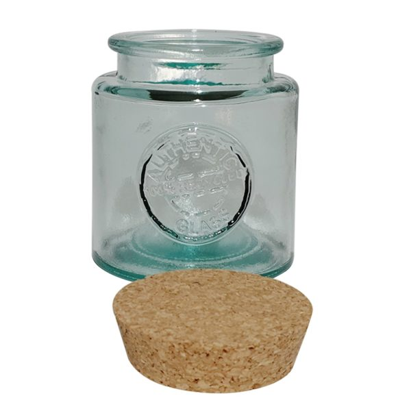 Recycled square Glass Jar