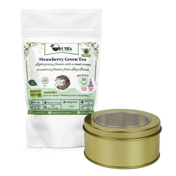 Strawberry Green Tea With Tin Box