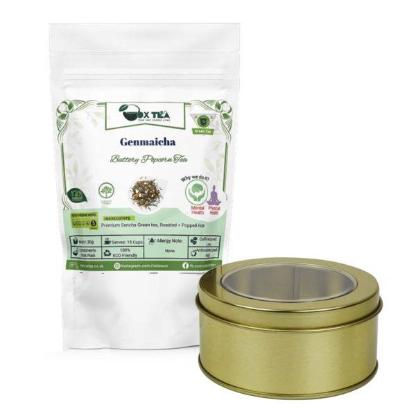 Genmaicha Green Tea With Tin Box