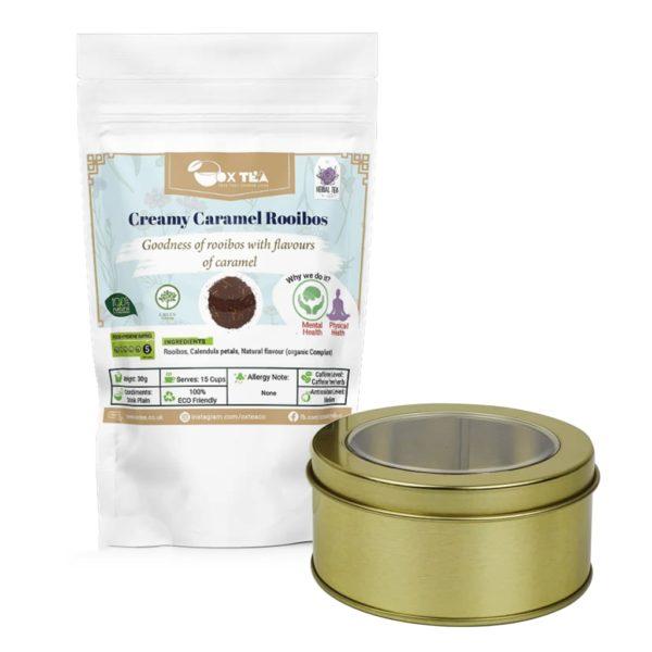 Creamy caramel Rooibos With Tin Box