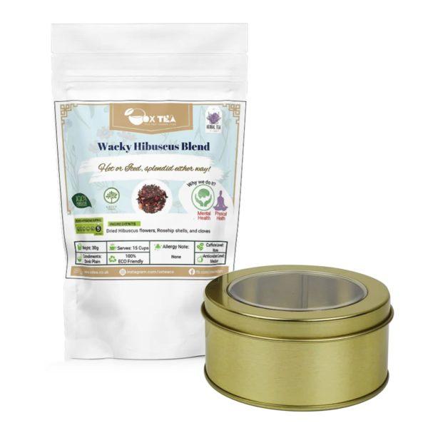 Wacky Hibiscus Tea With Tin Box