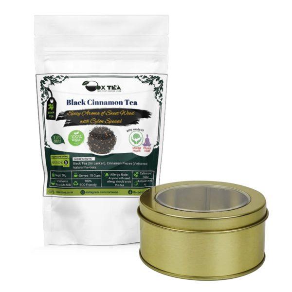 Black Cinnamon Tea With Tin Box