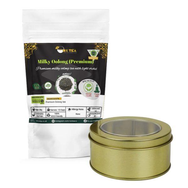 Milky Oolong Tea With Tin Box