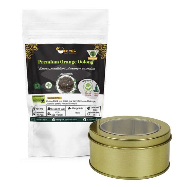 Premium Orange Oolong Tea pouch With Tin Box