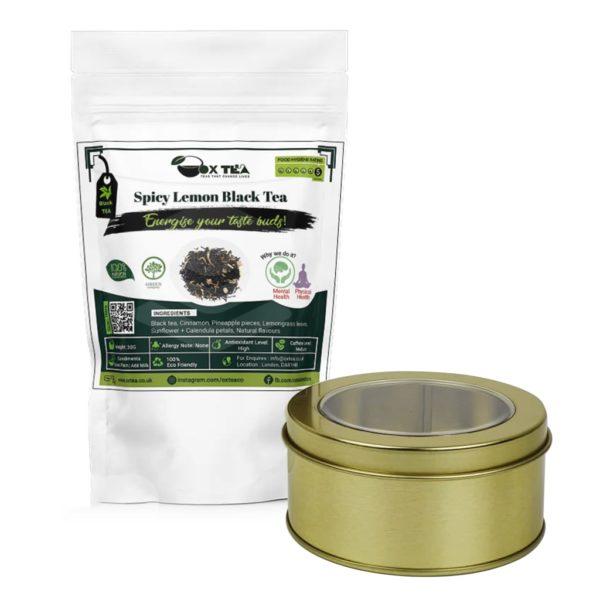 Spicy Lemon Black Tea With Tin Box