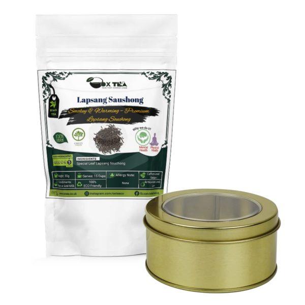 Lapsang Saushong Black Tea With Tin Box