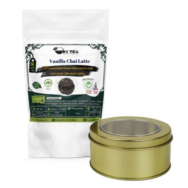 Vanilla Chai Latte With Tin Box
