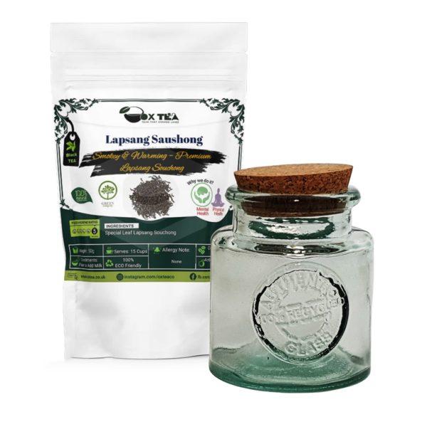 Lapsang Saushong Black Tea With Glass Jar