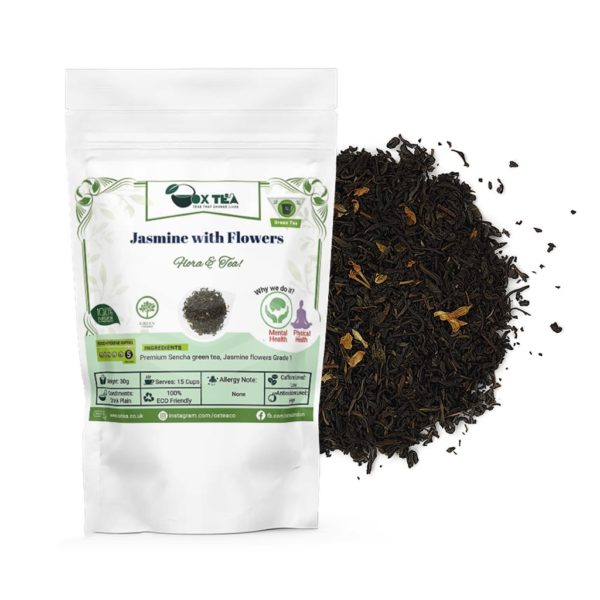 Jasmine with flowers Green Tea With Pouch