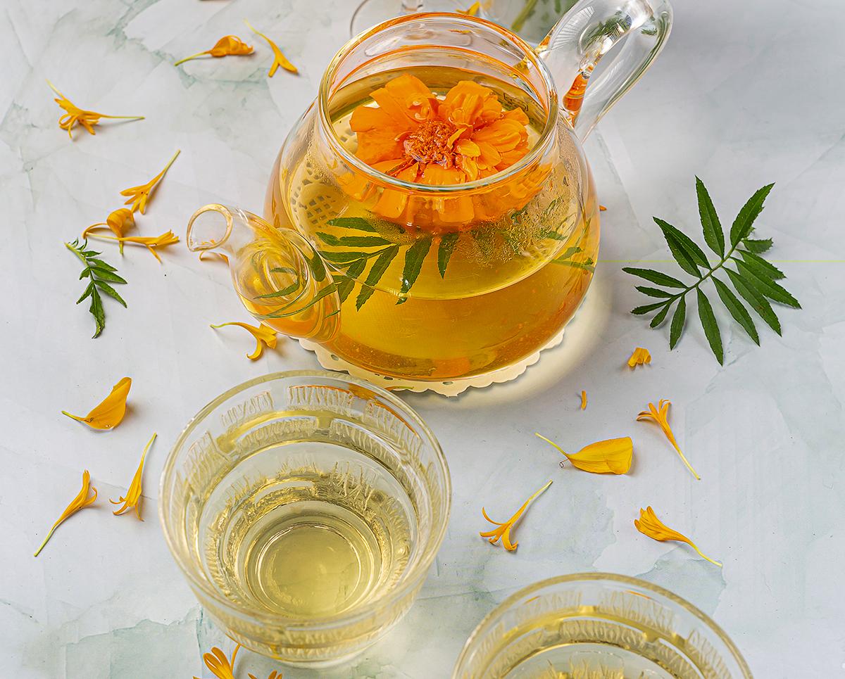 How to Make Tea Calendula Tea