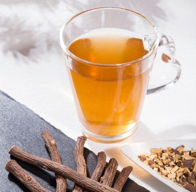Licorice roots tea,